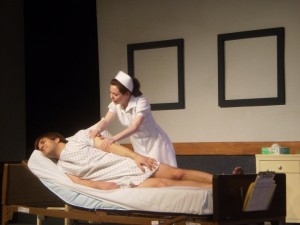 "As Nurse Kay Sadler in ""Whose Life is it Anyway?"""